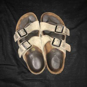 Birkenstock Shoes - Tan Birkenstock Arizona sandals